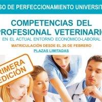 """Curso de perfeccionamiento UEX """"Competencias para el profesional veterinario""""."""